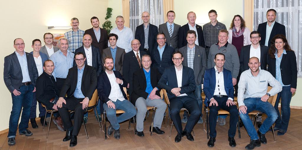 Die Kandidatinnen und Kandidaten der SVP Bezirk Frauenfeld für den Grossen Rat 2016.